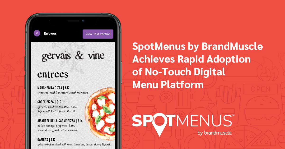 No-touch Digital Menu Platform