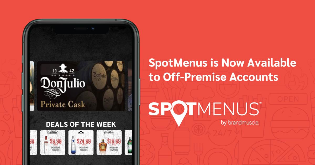 SpotMenus off-premise
